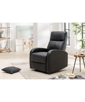 Czarny fotel relaksacyjny