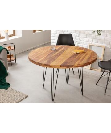Okrągły drewniany stół nogi hairpin