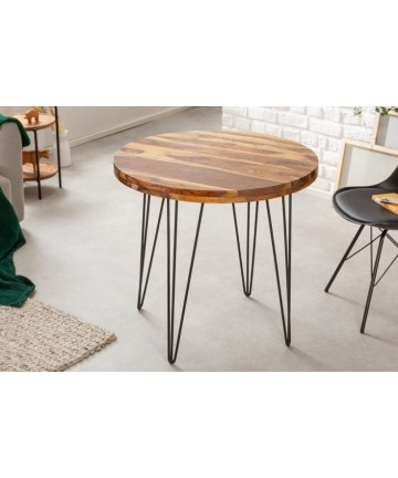 Nowoczesny okrągły stół do kawalerki