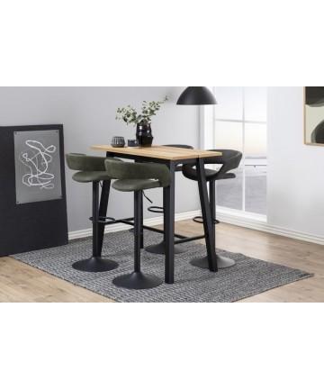 Stół barowy Kiara Dąb nogi czarne