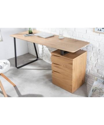 Duże dębowe biurko z szufladami