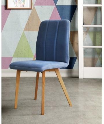 Dębowe krzesło tapicerowane
