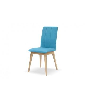 Modne dębowe krzesło tapicerowane