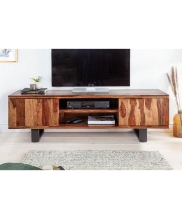 Masywna szafka RTV z litego drewna 160