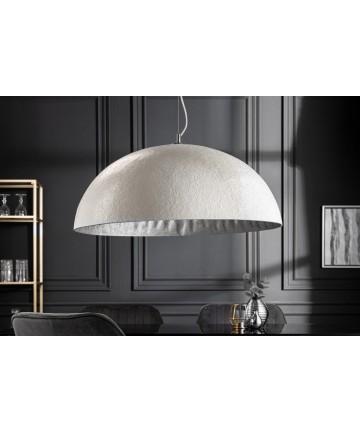 Lampa wisząca Atelier biało srebrna 70