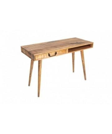 Biurko 120 z litego drewna z szufladą