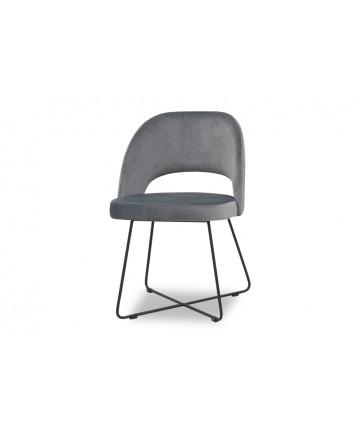 Nowoczesne krzesło na metalowym stelażu