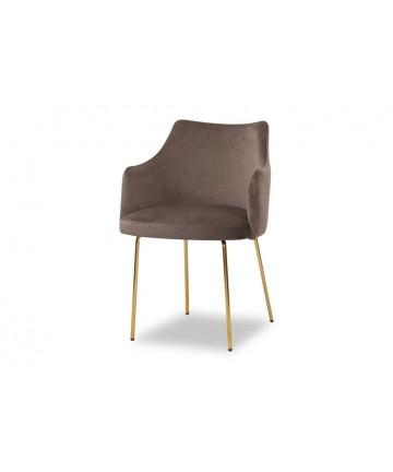 Nowoczesne krzesło ze złotymi nogami