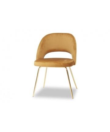 Krzesło tapicerowane ze złotymi nogami