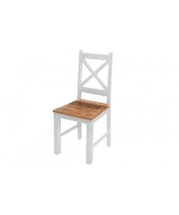 Drewniane krzesło Milan białe-mango