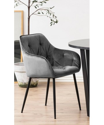 Krzesło Rosa Velvet ciemnoszare