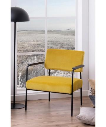 Fotel Globe Velvet żółty