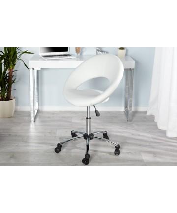 Fotel biurowy Ringo biały obrotowy