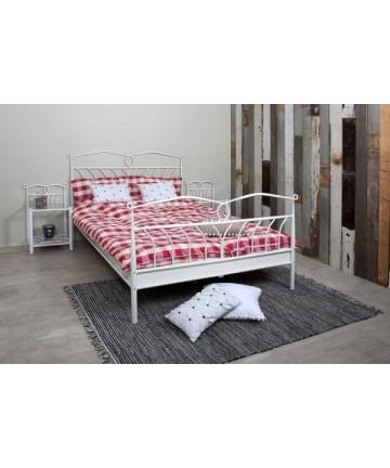 Łóżko Stella białe metalowe łóżko dla dwojga 180 x 200 cm